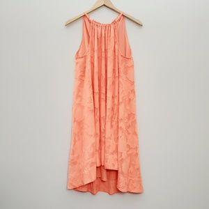 RACHEL Rachel Roy peach high neck hi low dress